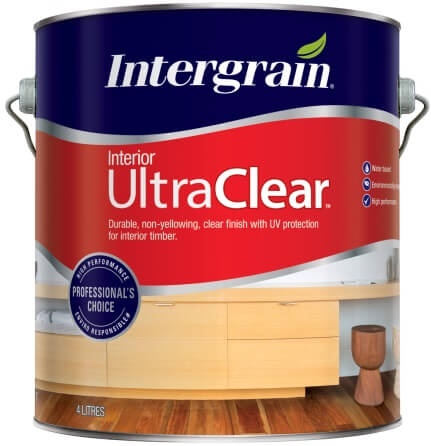 interior clear varnish finish for interior timbers intergrain